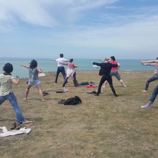 2018 - Yoga and a walk at Seven Sisters park
