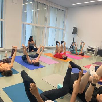 Ana Pope - Teaching her first Anusara yoga class
